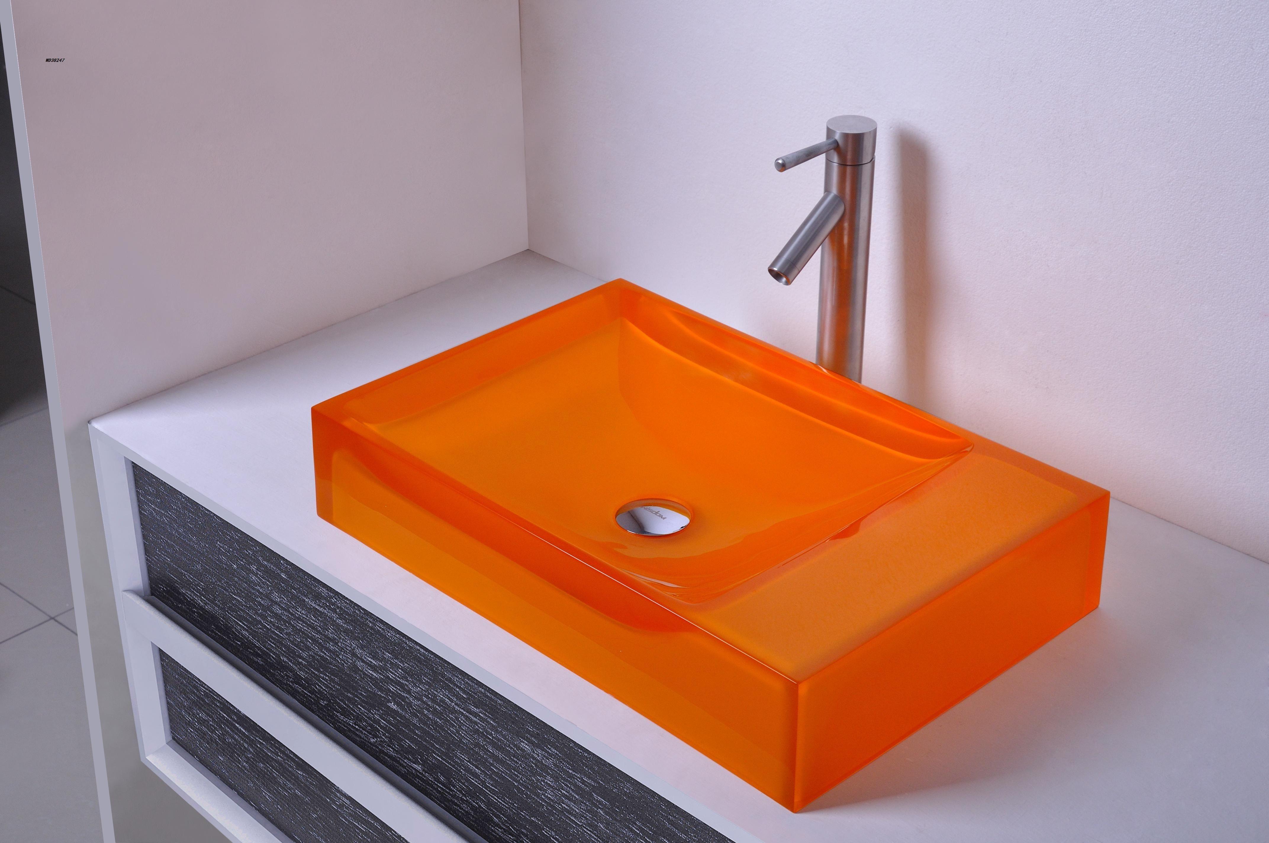 600mm Certificato CUPC Bagno Resina Lavabo da appoggio rettangolare Lavabo da appoggio colorato Lavandini navi da bagno RS38247