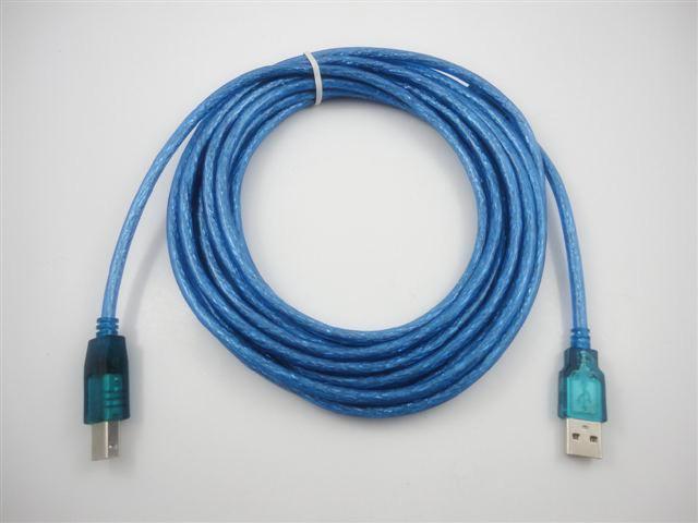 Cavo stampante USB 2.0 da 5 M 16 Ft stampante che collega i dati del PC Collegare la linea di stampa blu Alta qualità Spedizione gratuita 100 pezzi / up