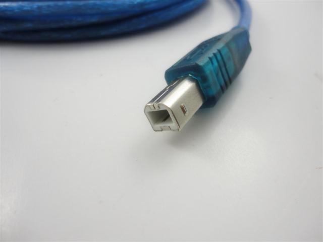 5M 16Ft USB 2.0 Druckerkabel für den Drucker, der PC Daten anschließt, schließen blaue Drucklinie Qualität an Freies Verschiffen / up