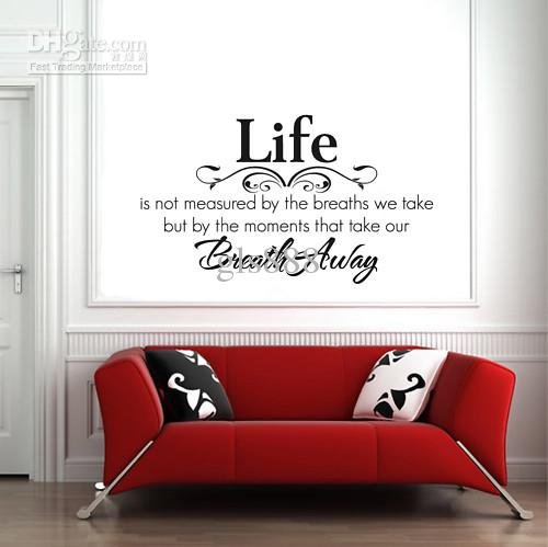 yw1002 60*80cm wall words lettering saying wall decor sticker vinyl