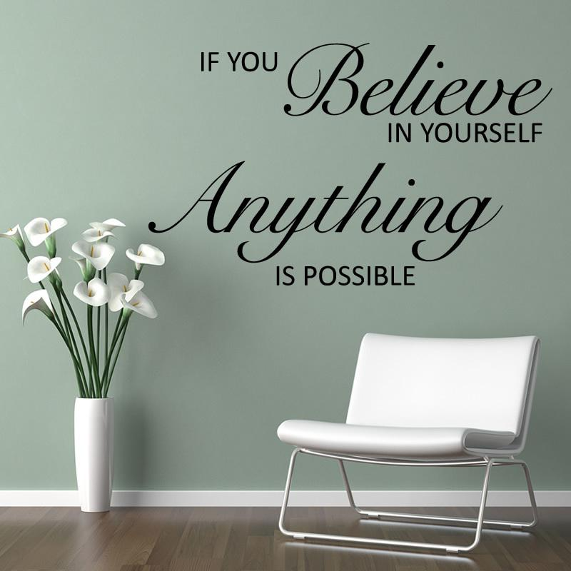 Marvelous Yw1041 Wall Quotes Decal Words Lettering Saying Wall Decor Sticker Vinyl Wall  Art Stickers DecalsBelieve 60x80cm Art Wall Sticker Art Wall Stickers From  ...