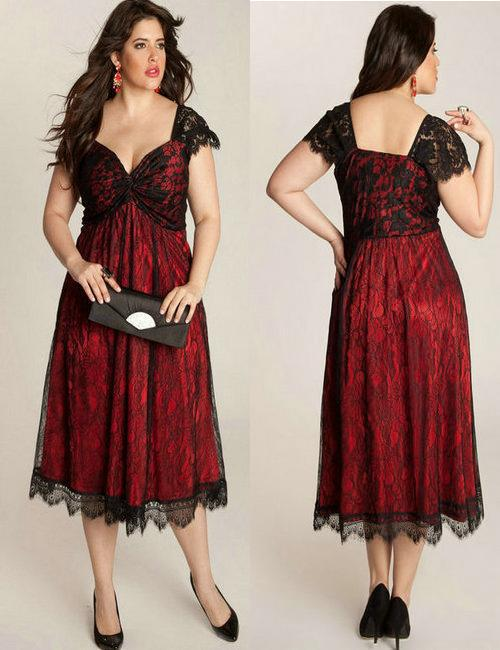 Stunning Red And Black Dress Plus Size Contemporary ...