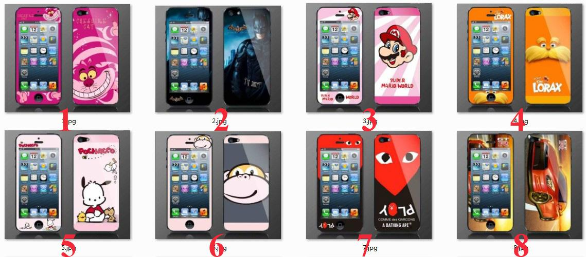 40 cartoon designs screen protector film protective cover sticker front back for iphone 5 5g 5th generation free fast shipping oneplus screen protector