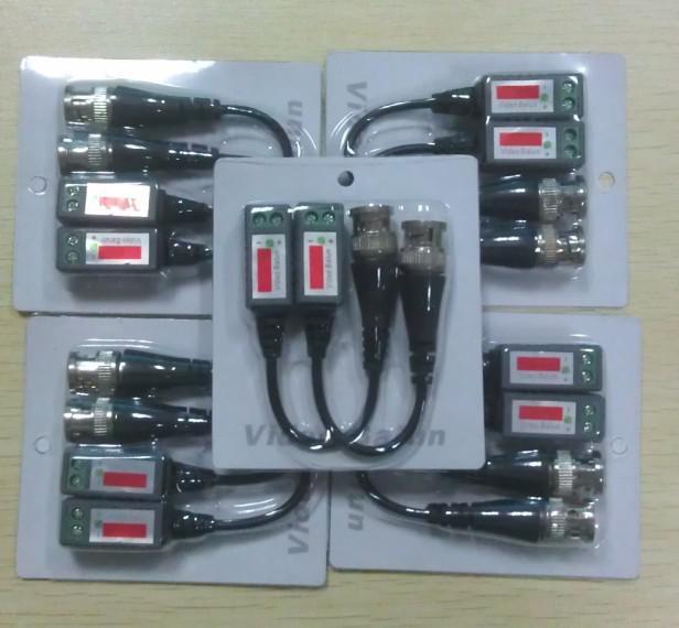 CAT5 CAM CCTV BNC Vidéo Balun Effet d'émetteur-récepteur de bonne qualité Feedex DHL