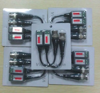 Wholesale Power Cable Network - CAT5 CCTV Camera BNC Video Balun Transceiver Cable Network No power required 25Pairs 50pcs