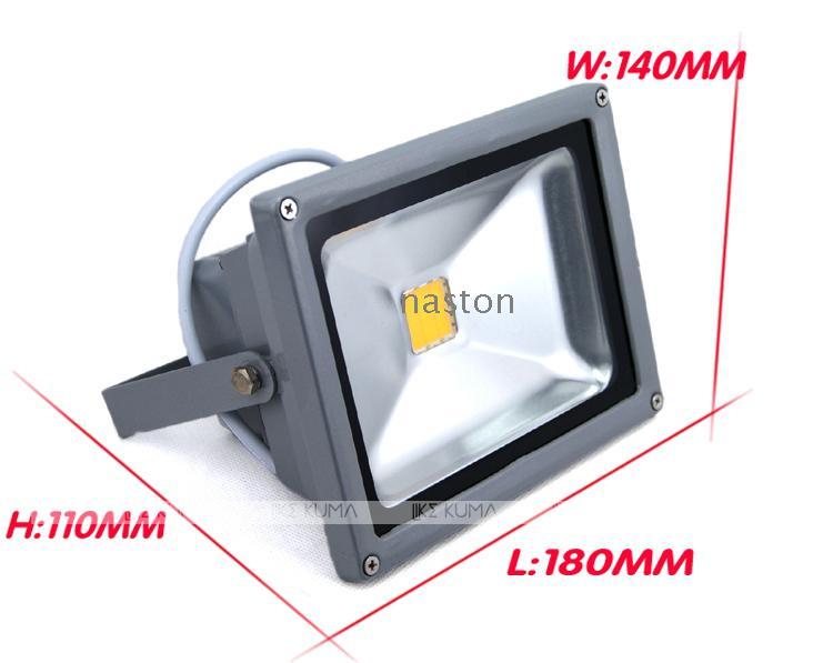 Oi-brilhante 20 W Led luz de Inundação Led Hi-power 85-265 V À Prova D 'Água IP 65 ao ar livre luz de Inundação da lâmpada de alta qualidade frete grátis