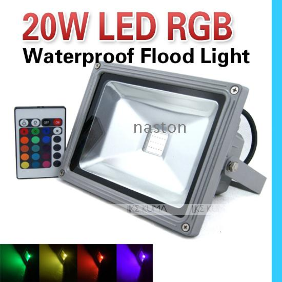 24 Key Color Change 20W RGB Led Flood Light Led Bright High Power 85 265V  Waterproof Outdoor Flood Light Lamp High Quality Free Shipping