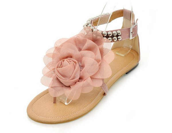 Fashion Girl Sandals Beautiful Flower Summer Shoes Girl Anti Slipping Sandal Shoes -1808