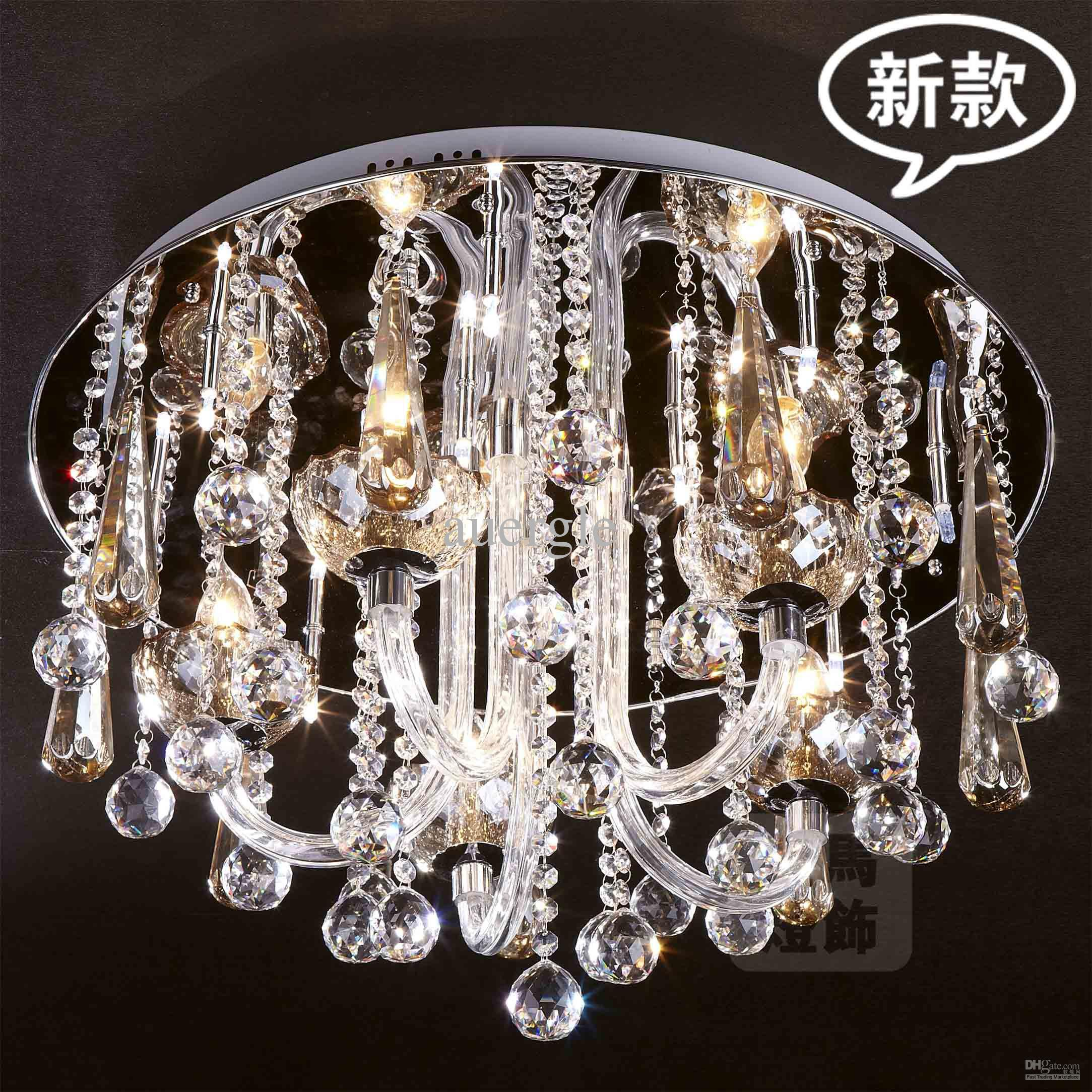 cascade pin wide pendant light crystal ceiling chandelier