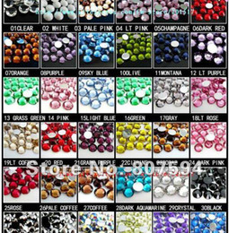 Wholesale Crystals Wholesale Prices - 38000pcs=228g 3mm Crystal rhinestones assorted color rhinestone Best quality Lowest Price flatback