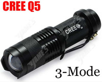 Ultrafire 300LM CREE Q5 LED Flashlight Camping 3-Mode de la flamme au point réglable Zoom lampes de poche étanches Lamp