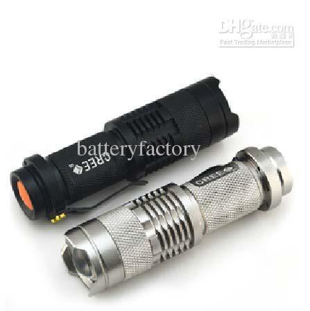 Brand New Ultrafire 300LM CREE Q5 LED camping lampe de poche 3-mode torche mise au point réglable Zoom étanche lampes de poche lampe