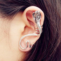 Wholesale Snake Ear Wraps Wholesales - 24pcs Free Shipping wholesale Fashion Punk snake Hook earrings Punk Ear Cuff Snake cobra Wrap Earring