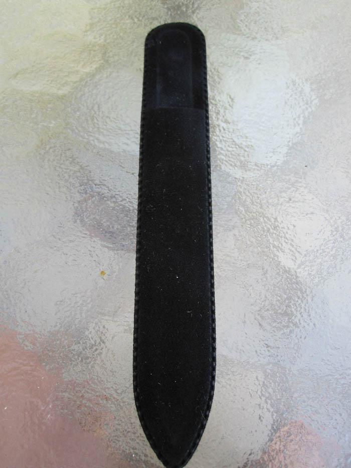 100X Prego Arquivos Sleeve Black Velvet Case Terno para arquivos de vidro Tamanho 5 1/2