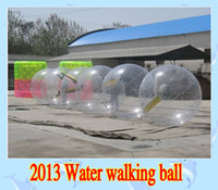 Wholesale Zorb Walking Balls - 2016 2m 0.8mm inflatable Ball Zorb Ball Water Walking Balls Dancing Ball Sports Ball walk on water with tizpper PVC 2pcs lot