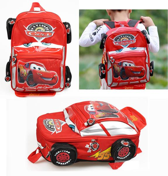 Cars Backpack Kids Bag With Car Shape School Bag Children