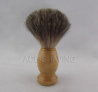 Shaving Brush Male  Wood handle shaving brush with mixed badger hair