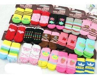 Бесплатная доставка смешать размер S M L цвет дизайн одежды собака носки 80 шт. / лот=20 компл. / лот горячие продажи