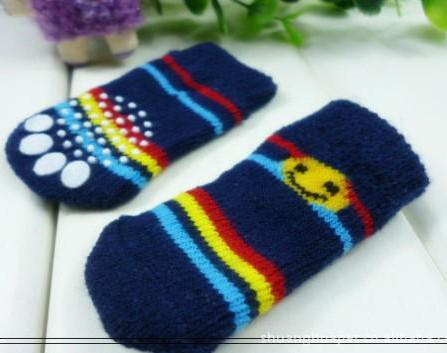 Envío gratis 2013 NUEVO diseño de moda para mascotas perro calcetines 24 unids / lote = / lote ventas calientes