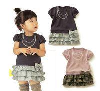 Wholesale B2w2 Girl - 2013 New B2W2 Korea Children's clothing Female models Korean dress Two piece set Child Suite