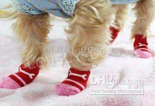 precio bajo mezcla multicolor Tamaño S M L Moda diseño mascota perro calcetines 400 unids / lote = / lote envío gratis