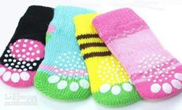 Wholesale Design Pet Dog Socks - Free shipping mix Size S M L color Fashion Design pet Dog Socks 80pcs lot=20sets lot Hot sales
