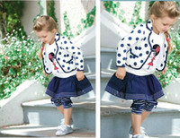 Girl blazer leggings - 2013 New Fashion Kids Clothing European Style Clothes Polka Dot Blazer InsideT shirt Skirt Leggings