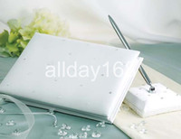 Wholesale Wedding Diamond Guest Book - Wedding Favors Wedding Party white diamond star design Wedding Guest Books & Pen Sets