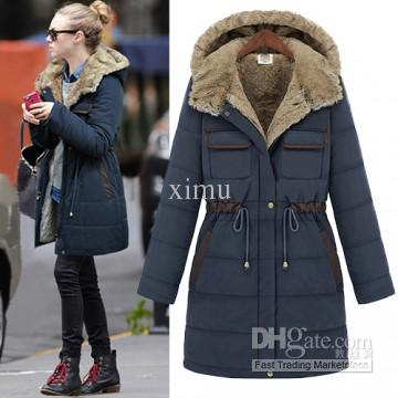 2017 Fashion Winter With A Hood Plus Size Female Wadded Jacket ...