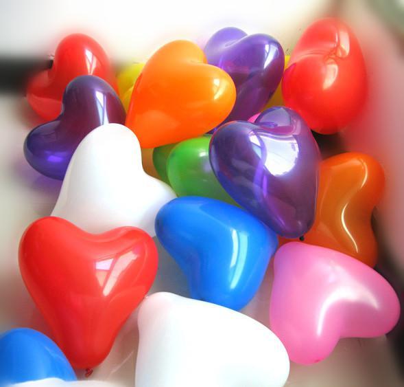 Decorações de casamento bonito casamento engrossado balões balões de forma de coração romântico para a proposta do partido avors bebê brinquedos hom decorações