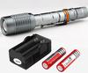 5pcs Lot Super Bright Ultrafire Z5 1600 Lumen CREE XM-L T6 LED Zoomable Flashlight Torch 2*18650 Battery Charger
