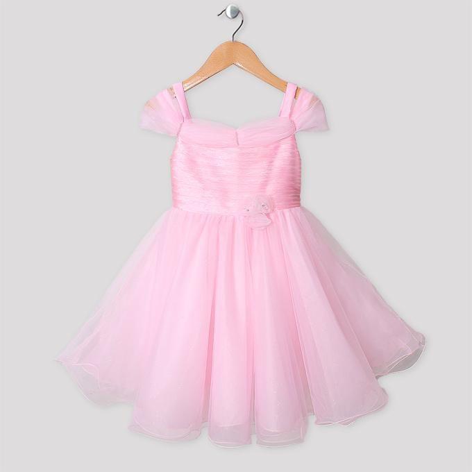 New Fashion Baby Girl Princess Dresses Pink Summer Veil Flower Dress ...
