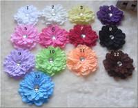 acessório de cabelo peony flor venda por atacado-Novo! 13 cores 4 '' peônia infantil acessórios de cabelo meninas flor clipe, gerbera bebê linda flor