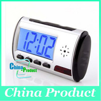 Wholesale Clock Style Digital Camera - Best Price Spy Clock Digital Spy Camera Clock Style with Motion Detector + Remote Control Drop Shipping HKPOST free shipping 000202