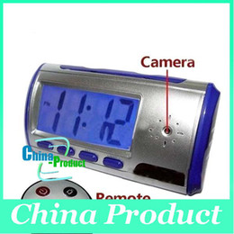 Wholesale Cheap Wholesale Digital Cameras - Cheap Clock Style Spy Clock Digital Spy Camera with Motion Detector + Remote Control Drop Shipping free shipping 000202