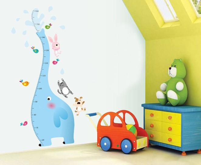 Wholesale Removable 60x90cm Wall Stickers The Baby Elephant Height Chart Wall  Art Stickers Nursery Wall Decor Tree Sticker Wall Art Tree Stickers For Wall  ...