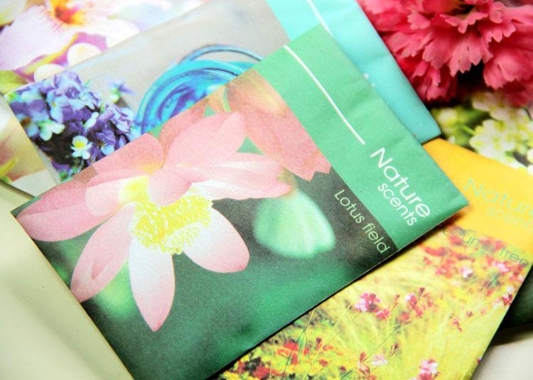 Multi Flavor Natural Scents Profumo Profumi Aromatherapie Bustine Aromi Therapy Deodorante Spedizione Gratuita 50 pz / lotto