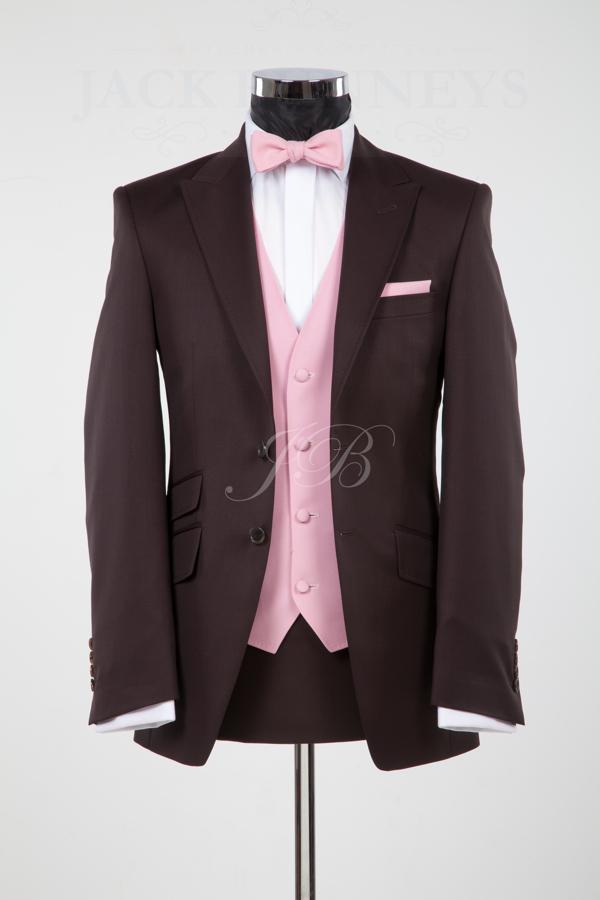 custom made brown ticket pocket groom tuxedos best man