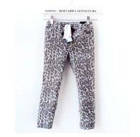 Wholesale Kids Leopard Print Pants - Fashion Leopard Print Jeans Denim Trouser Children Casual Pants Stretch Jeans Kids Clothing Long Trousers Girls Pants Slim Jeans Child Wear