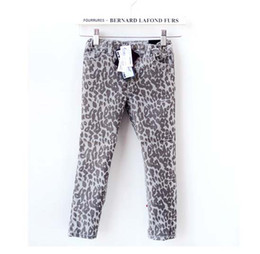 Wholesale Kids Leopard Trousers - Fashion Leopard Print Jeans Denim Trouser Children Casual Pants Stretch Jeans Kids Clothing Long Trousers Girls Pants Slim Jeans Child Wear
