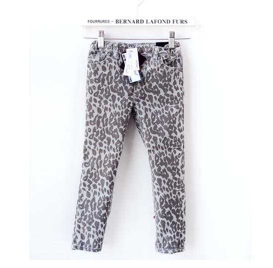 Moda Leopard Print Jeans Denim Pantaloni bambini Pantaloni casual Stretch Jeans Abbigliamento per bambini Pantaloni lunghi Pantaloni per bambina Jeans sottili Abbigliamento bambino