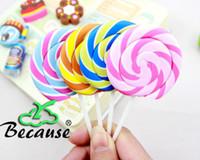 Wholesale Lollipop Shape Eraser - Ziyu-2013 New Cute Lollipop Shape Eraser Candy Eraser Colorful And Lovely School Set 10pcs lot