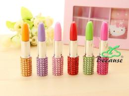 Wholesale Lipstick Shaped Pens - Ziyu-2013 New Fashion Lipstick Shape Ball Pen Creative Pen Cute And Lovely School Set