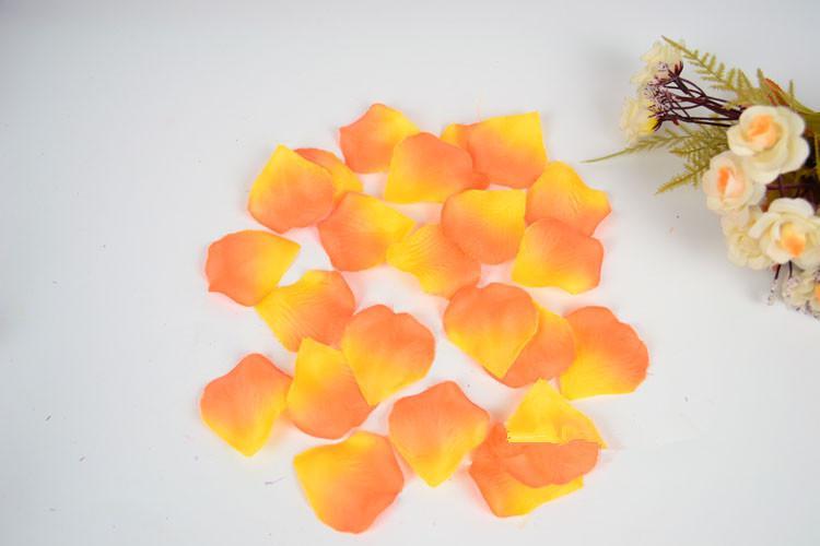 Forniture matrimoni Decorazioni Simulazione di nozze Simulazione dei petali di rosa dei fiori sparsi dei fiori non tessuti dei fiori 9 di colore Bella vendita calda nel 2019