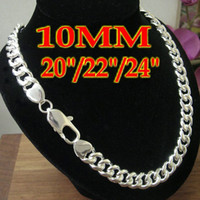 New Fashion Jewelry Men's Curb Necklace chains 925silver 20 ...