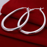 Wholesale Silver Earings Free Shipping - 925 Sterling Silver Jewelry Earings +gift box bag Brand New free shipping e080