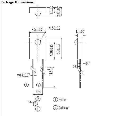 shippping libres  d'émetteur infrarouge DEL rectangulaire et diode réceptrice IR