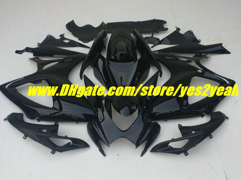 Gloss Black Fairing Body Kit voor Suzuki GSXR 600 750 K6 2006 2007 Carrosserie GSXR 600 GSXR750 06 07 Valerijen Set + Gifts SD66