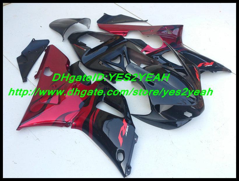 ABS 레드 블랙 페어링 키트 for YAMAHA YZF R1 00 01 YZF-R1 YZF1000 YZFR1 2000 2001 페어링 세트 +7gifts