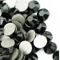 Wholesale Ordering Metal Art Wholesale - special order of high shine Crystal AB, black, rose, sapphire, clear Nail Art rhinestone flatback silver back non-hotfix
